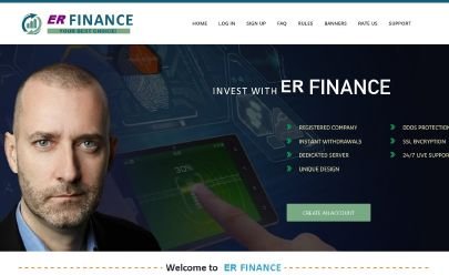 Screenshot HYIP ER FINANCE LIMITED