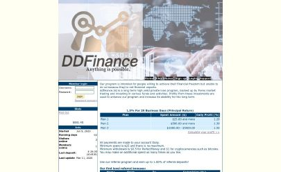 Screenshot HYIP DDFinance