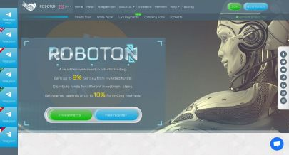 Скриншот HYIP Roboton LTD