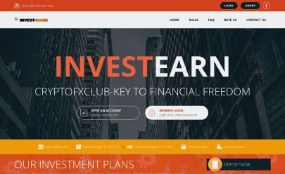 Скриншот HYIP InvestEarn Club