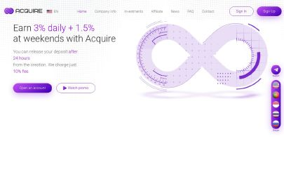 Screenshot HYIP Acquire Network