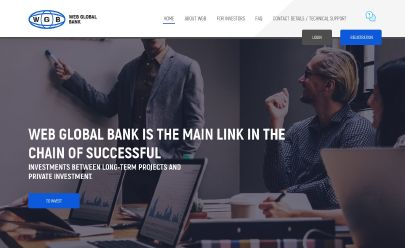 HYIP screenshot  WEB GLOBAL BANK