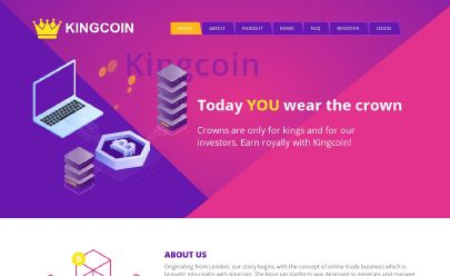 Capture d'écran de HYIP KingCoin