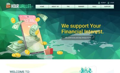 Captura de pantalla de HYIP Hour Wallet Limited