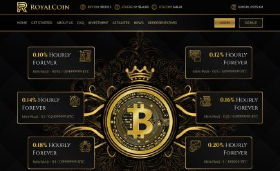 Screenshot HYIP RoyalCoin