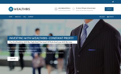 HYIP screenshot  WEALTHBIS.CC