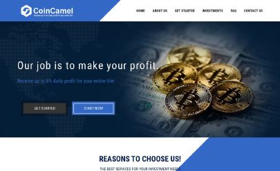 Screenshot HYIP Coin Camel Ltd
