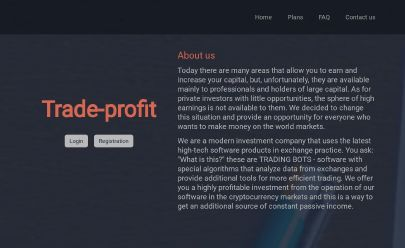 Screenshot HYIP Trade-Profit.site