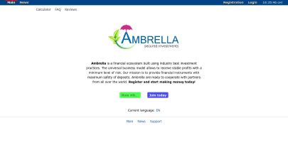 HYIP-Screenshot Ambrella.cc
