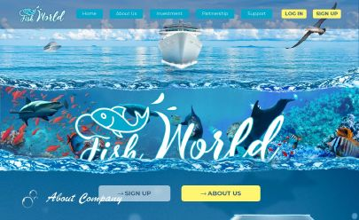 HYIP屏幕截图 Fishworld Aquatic Services LTD