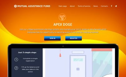Screenshot HYIP Apex Doge