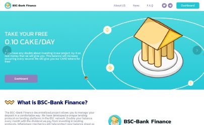Скриншот HYIP BSC-Bank Finance