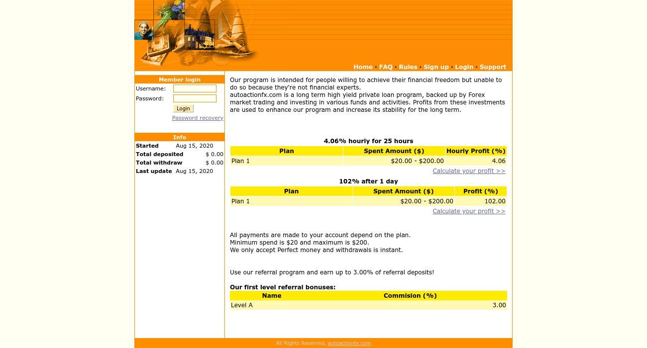 🥇 Autoactionfx reviews   autoactionfx.com paying or scam