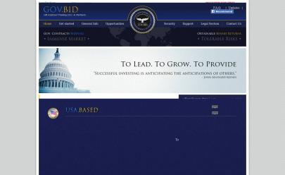HYIP screenshot  GovBid