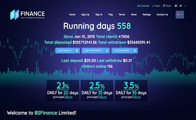 HYIP screenshot  BSFinance Limited